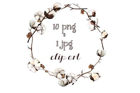 Cotton Arts 1 wreath clipart cotton pencil and in color wreath clipart