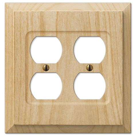 amerelle 180ttd baker unfinished alder wood 2 toggle 1 duplex wall plate justswitchplates com offers amerelle wallplates amr