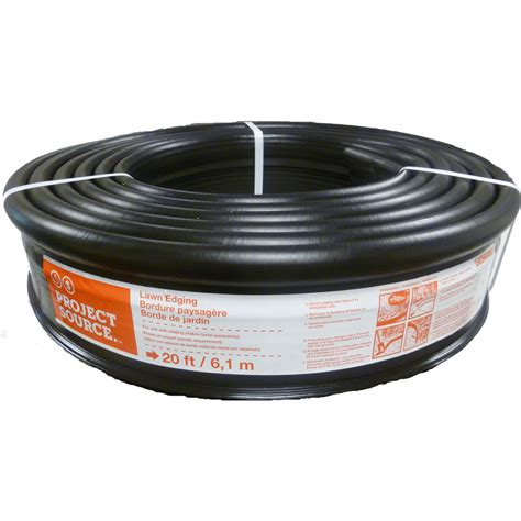 Install Landscape Edging Roll Shop Project Source 20 Ft Black Landscape Edging Roll At