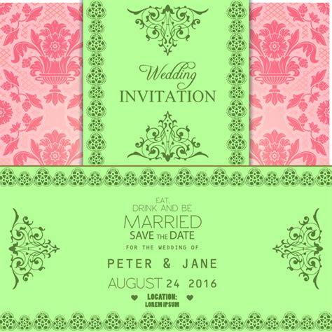 Invitation Card Design Ai File | wedding invitation card free vector in adobe illustrator