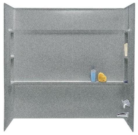 Stud Shower by Direct To Stud Bathtub Alcove Walls Gray Granite 3
