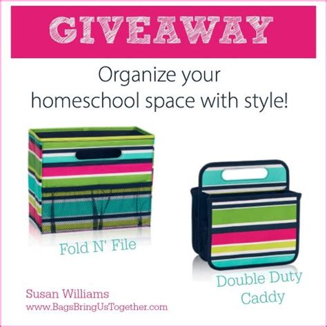 Homeschool Giveaway - organization ideas for your homeschool space the curriculum choice