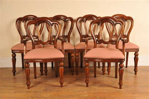 victorian dining room chairs 6 victorian dining chairs admiralty mahogany