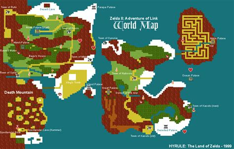 legend of zelda map quest 2 overworld zelda legends gamer s domain the adventure of link