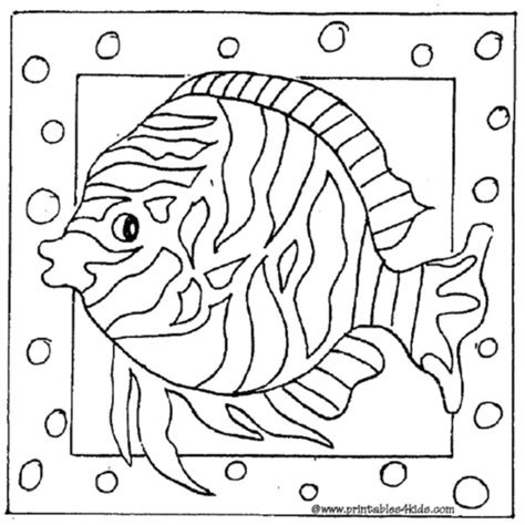 tropical aquarium coloring pages