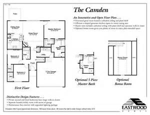 Camden Floor Plan camden eastwood homes