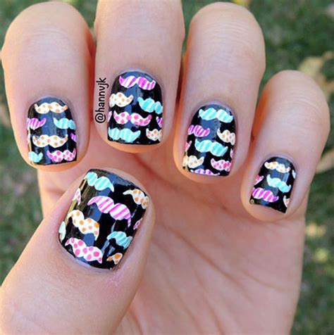 20 cool mustache nail designs ideas trends