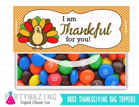 printable version of thank you ma am last minute printable thanksgiving bag toppers turkey