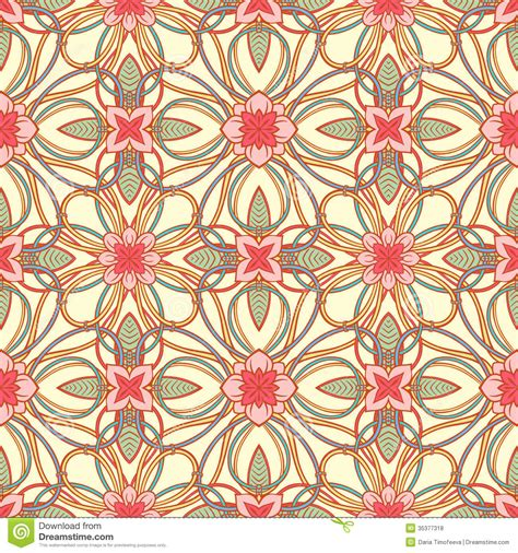 natural pattern flower pink flowers and color stems stock vector image 35377318