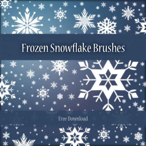 snowflake pattern brush photoshop frozen snowflakes photoshop brushes