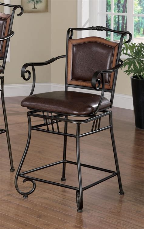 Gold Metal Counter Stools by Distressed Gold Metal 24 Quot Counter Height Stool From