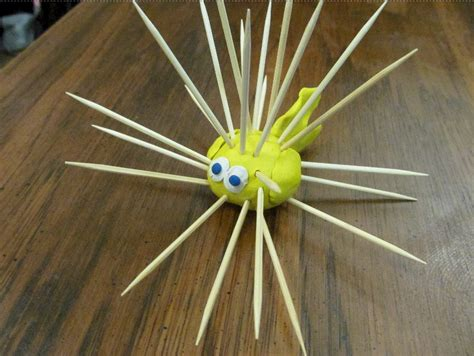 toothpick crafts for toothpick puffer fish