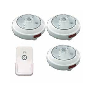 3 pack led battery operated puck light with remote control