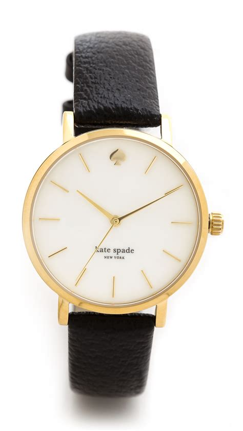 kate spade classic metro in gold gold black lyst