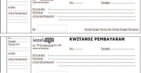 download format buku word download template kwitansi word docx rajaning blog