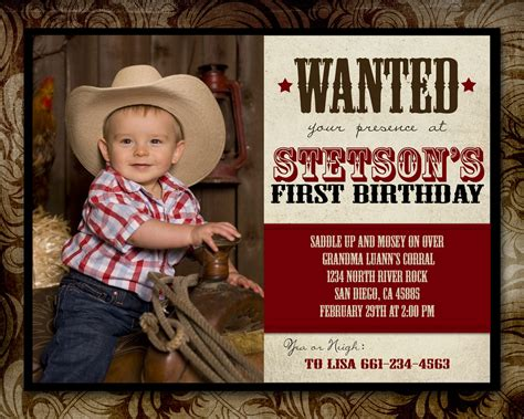 cowboy birthday card templates 11 beautiful and unique looking western birthday