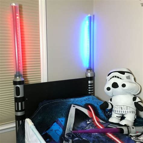 lightsaber bedroom light lightsaber headboard hometalk