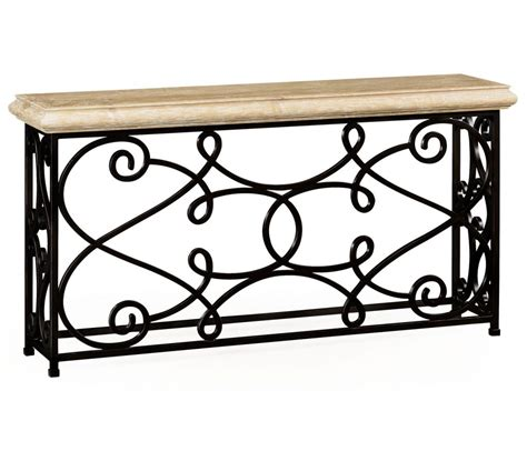 12 Wrought Iron Products That Add Old World Style To Your Home Rod Iron Sofa Table