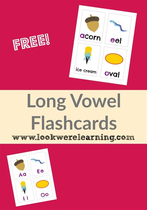 Printable Vowel Picture Cards