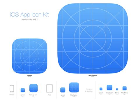 icon design guidelines ios ios app icon kit by medialoot dribbble