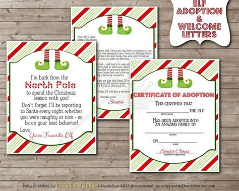 printable magic elf story printable little magic elf on the shelf adoption by