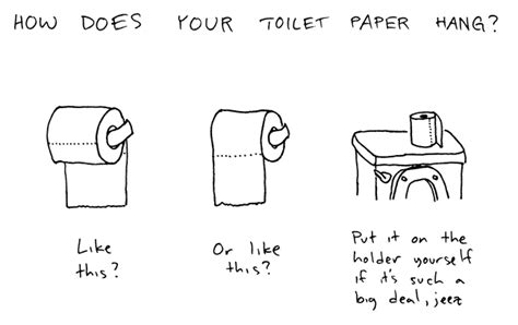 how to hang toilet paper image 78281 the great toilet paper debate know