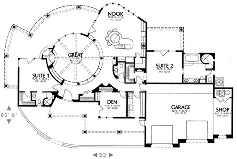 Adobe House Plans With Courtyard Adobe Southwestern Style House Plan 2 Beds 2 5 Baths 2575 Sq Ft Plan 4 132