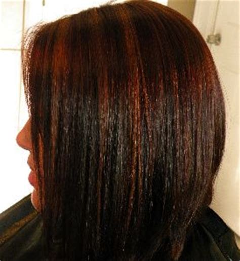 rose gold lowlights on dark hair rose gold highlights with copper brown and red lowlights