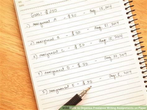 how to organize freelance writing assignments on paper 6
