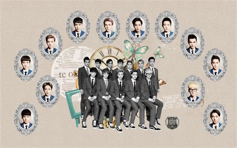 exo wallpaper with name exo xoxo comeback kiss and hug wallpaper by kpopgurl