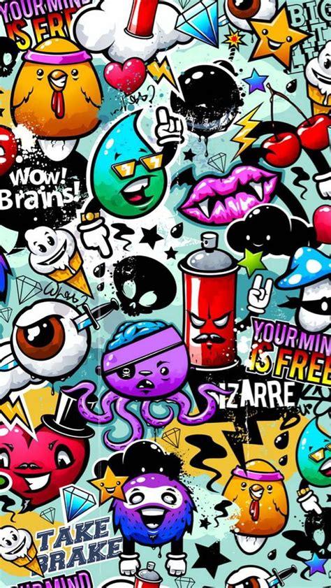 cartoon graffiti wallpaper  itschey