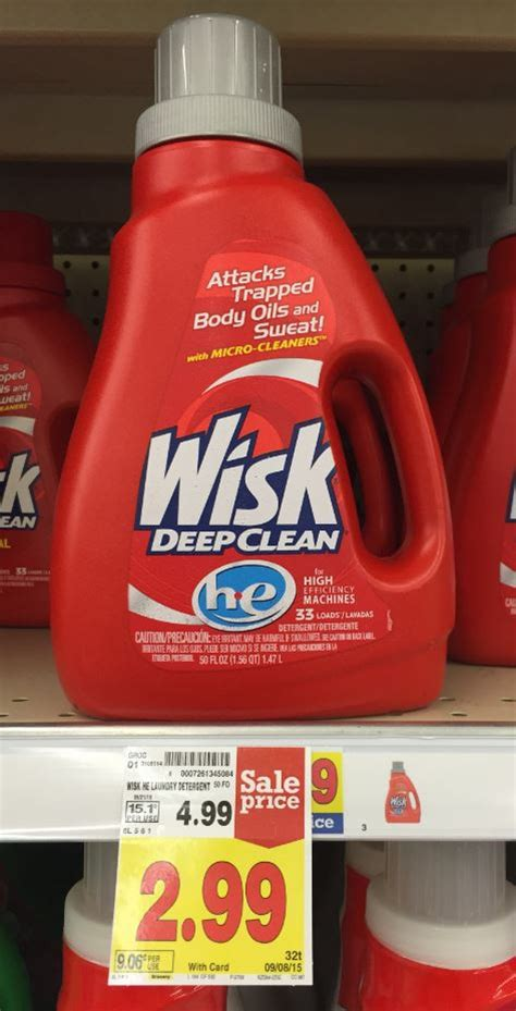 wisk cleaner wisk laundry detergent as low as 0 99 at kroger kroger