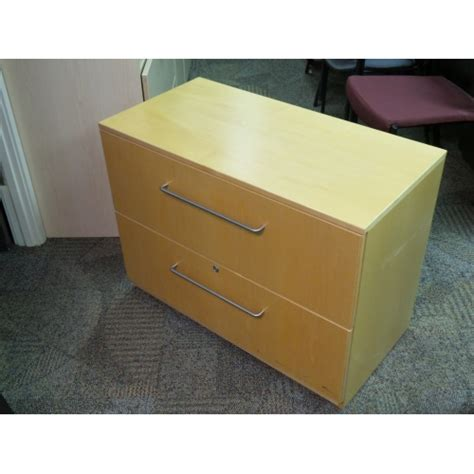 Wood Lateral File Cabinet With Lock Wood 2 Drawer Lateral Filing Cabinet Locking Allsold Ca Buy Sell Used Office