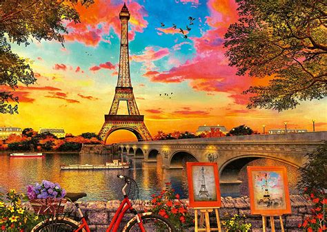 banks   seine paris jigsaw  ravensburger