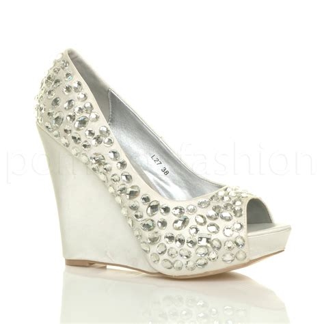 prom shoes womens wedding platform wedge bridal sandals