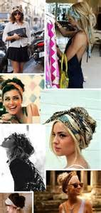different ways to wear a bandana with hair different ways to wear a bandana glamour girl pinterest