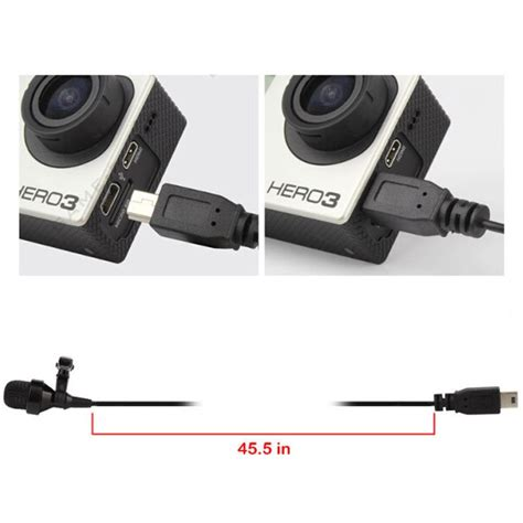 Kabel Microphone 35mm Untuk Gopro jual usb stereo microphone for gopro xiaomi yi
