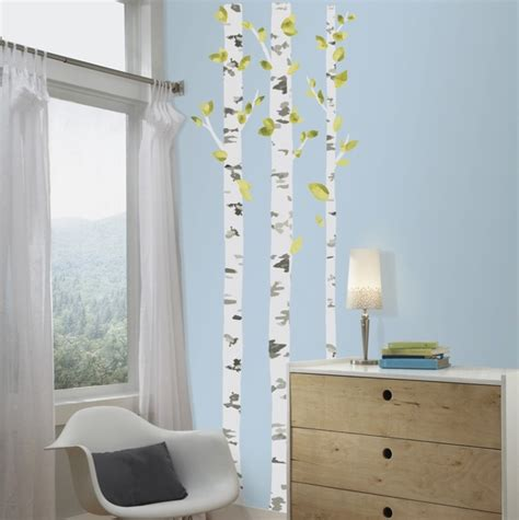 birch tree wall stickers birch trees wall decals rosenberryrooms
