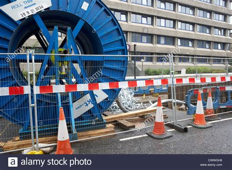 high voltage cable laying laying high voltage new electricity underground cables