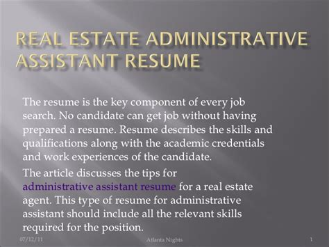real estate administrative assistant resume 6