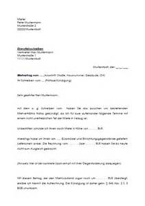 Musterbrief Kündigung Wohnung Mieter Aufrechnungserkl 228 Rung Des Mieters Zum