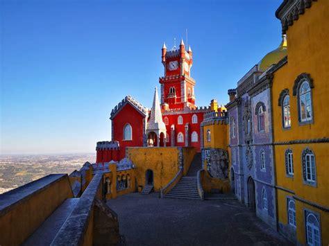 views  pena palace gardens  sintra portugal