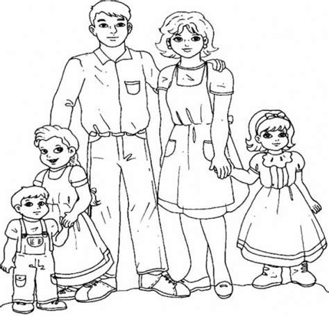 imagenes de la familia urbana para colorear familia para colorear