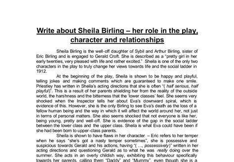 The Inspector Calls Essay by Essay On Birling