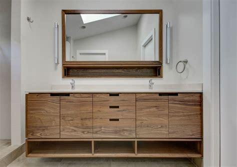 custom walnut vanity in nw portland dormer addition