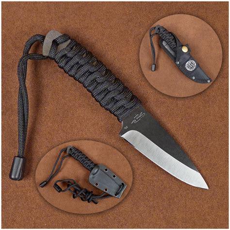 kydex knife river gear black ceramic neck knife with kydex