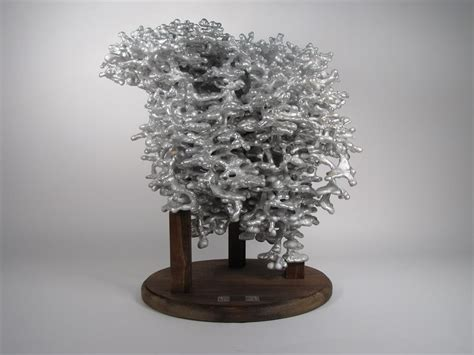 ant bed art aluminum castings of ant nests boing boing