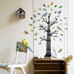 Childrens Wall Stickers Bird Themed Kid Bed Rooms Interior Designing Ideas