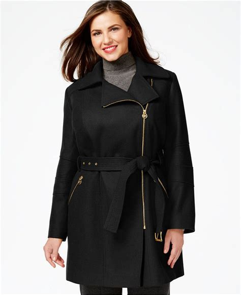 Jaket Zipper Hoodie Sweater I Am Genius Hitam michael michael kors plus size asymmetrical zip belted coat curvy genius belted coat
