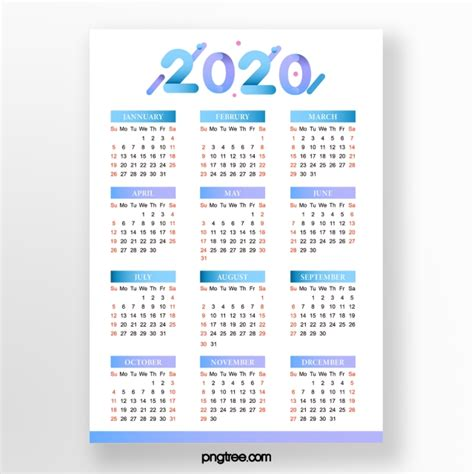 calendrier  simple degrade de bleu modele de telechargement gratuit sur pngtree